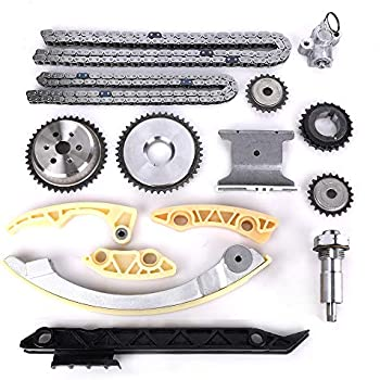 engine timing chain kit w/chain guide tensioner sprocket for buick chevy  gmc pontiac saab saturn 2 0l 2 2l 2 4l l4 replace # 12680750 9-4201s  9-4201sx