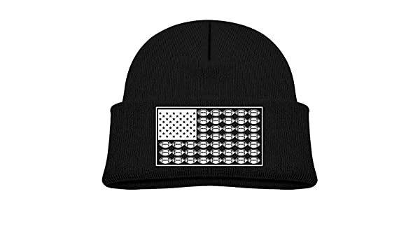 f9d1f4c1ef0 Amazon.com  SARA NELL Toddler Boys Girls Knit Kids Hat American Football  Rugby USA Flag Beanie Hats Skull Cap  Clothing