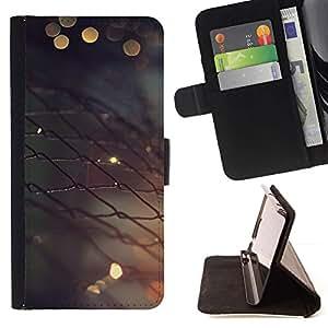 Momo Phone Case / Flip Funda de Cuero Case Cover - Valla metálica;;;;;;;; - LG G4c Curve H522Y (G4 MINI), NOT FOR LG G4