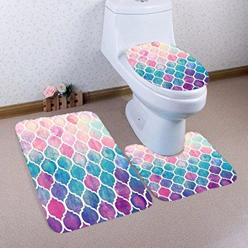 1 Set  Flannel Carpet Rug Bath Mats Toddler Nonslip Textured