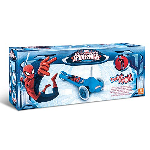 Mondo 18395 - Ultimate Spiderman Twist & roll, patinete 2 ruedas delanteras
