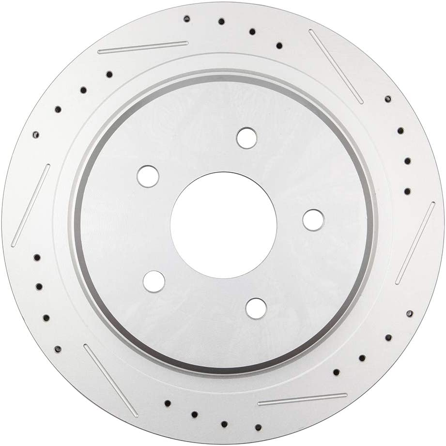 OCPTY Rear Brakes and Rotors Set with 2 Rear Brake Disc Rotots and 4 Ceramic Pads fit for 2004 2005 2007 2008 Cadillac XLR,1997 1998 1999 2000 2001 2002 2003 2004 Chevrolet Corvette