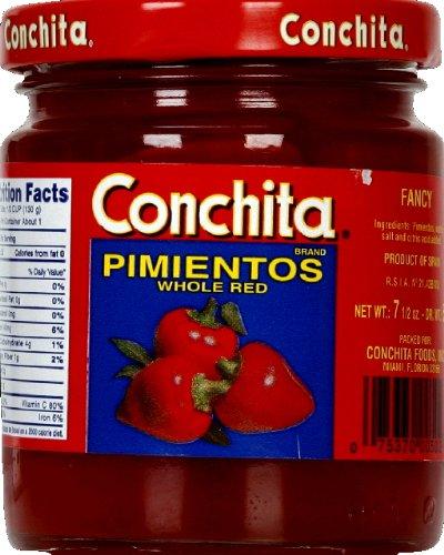 Conchita Whole Red Pimientos, Fancy Quality, 7.5 oz