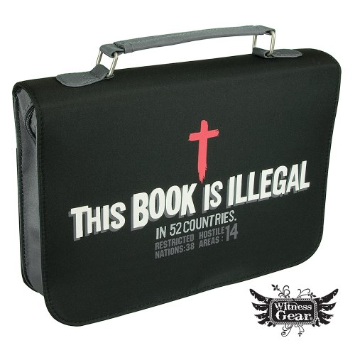 """This Book Is Illegal"" Micro-Fiber Bible / Book Cover (Large) from Christian Art Gifts"