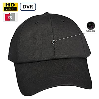 SpyGear-8GB New Video Recording Cap Mini Spy Camera Hat Camcorder Battery Operated Baseball Cap Camera Fashionable Hat Camera - Fuvision