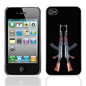 Carrie Diy 2 AK-47's Machine Assault Rifle gRmTEqwRcMs Design case cover for Apple iPhone 4 & 4S