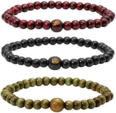 \u0950 Tektite Bracelet 6mm \u0950 Mala Bracelet Reiki Bracelet 6 mm Meditation Yoga Bracelet