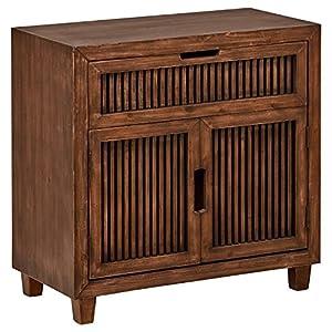 "Amazon Brand – Stone & Beam Fremont Slatted 2-Door Cabinet, 31.5""W, Ash"