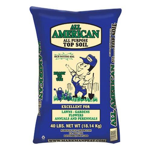 Markman Peat Company 200 Top Soil, 40 lb (Best Topsoil For Lawn)
