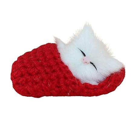 WANNA.ME In Stock Simulación Gato Vocalize Meow Pantuflas de Felpa ...