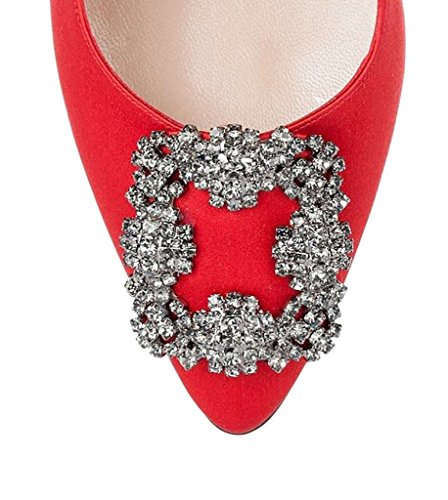 Arc-en-Ciel los zapatos de las mujeres de las bombas de tacón alto del dedo del pie redondo Blanco