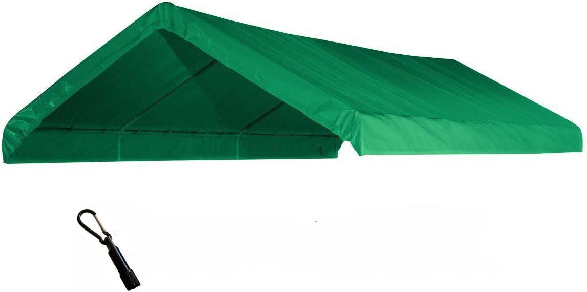 EZ Travel Collection Heavy Duty Waterproof Valance Canopy Cover, Green, 10' x 20'