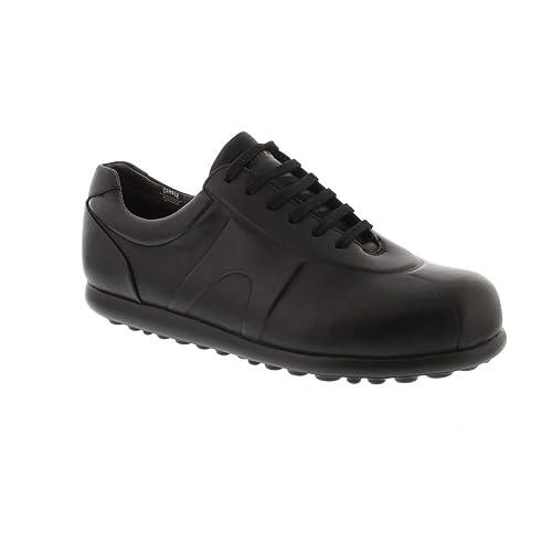 Hombre Zapatos Para Cordones Piel De Camper Lisa Negro BqzwnYd
