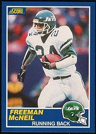 6e8bb98aea2 Amazon.com: Football NFL 1989 Score #24 Freeman McNeil NY Jets ...
