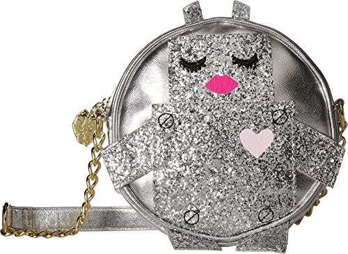 Womens Silver Betsey Luv Robbie Canteen Robot Kitch Crossbody 8UHxvw
