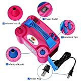 NuLink Electric Portable Dual Nozzle Balloon Blower Pump Inflation for Decoration, Party, Sport [110V~120V, 600W, Rose