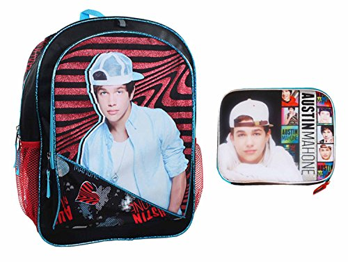 Austin Mahone Backpack with Matching Lunch Tote by Ultimate Back To School Sets