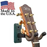 #7: String Swing Guitar Hanger - Holder for Electric Acoustic and Bass Guitars - Stand Accessories Home or Studio Wall - Musical Instruments Safe without Hard Cases – Emerald Heavy Duty Steel GCC11K