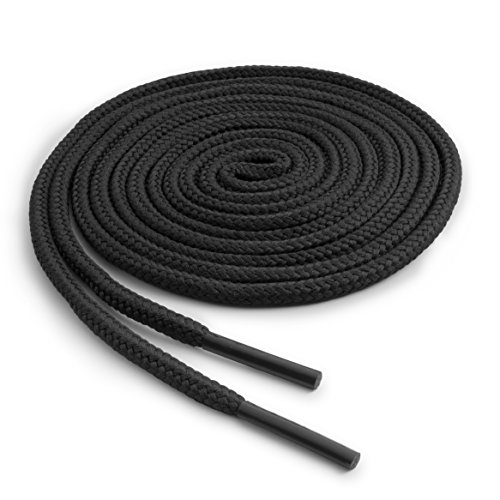 (OrthoStep Round Athletic Black 54 inch Shoelaces 2 Pair Pack)
