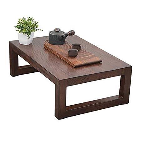AZHom Tabla Mesa de Ordenador Mesa de café Tatami Cama Baja sólida ...
