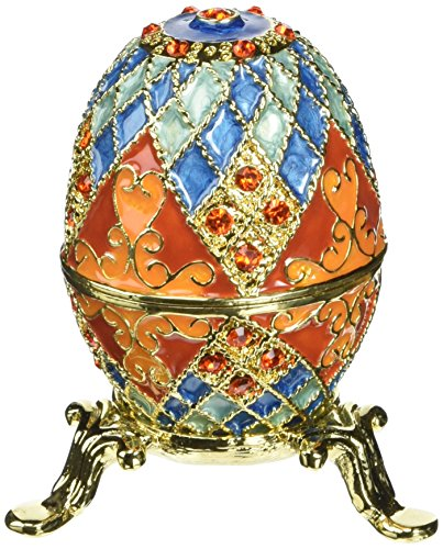 (Design Toscano Grand Duchess Collection Romanov Style Enameled Georgievna Eggs,)