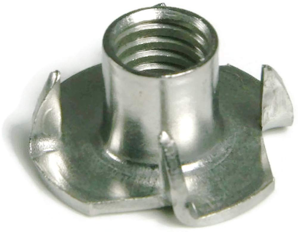 Nuts 4 Prongs T Nut, 304 Stainless Steel T-Nut - (Size: M8)