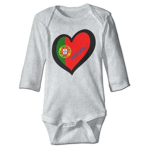 Babys Boy's & Girl's Awesome Portugal Soccer Champion T-shirt Ash Size 24 Months