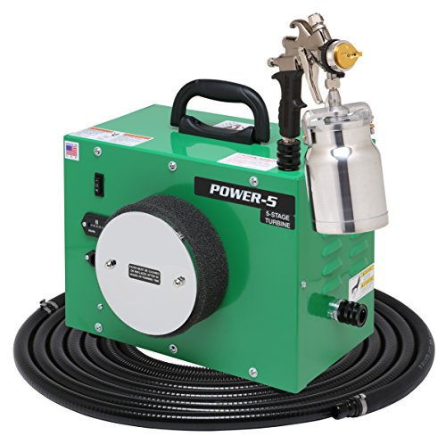 ApolloSpray Apollo HVLP POWER-5, 5-Stage Turbo Spray System Complete with 7500QT Spray Gun and 27' Air Flex Hose - Non Turbo Stage