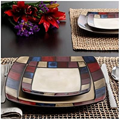 Click for Gibson Soho Lounge Mosaic 16-Piece Dinnerware Set