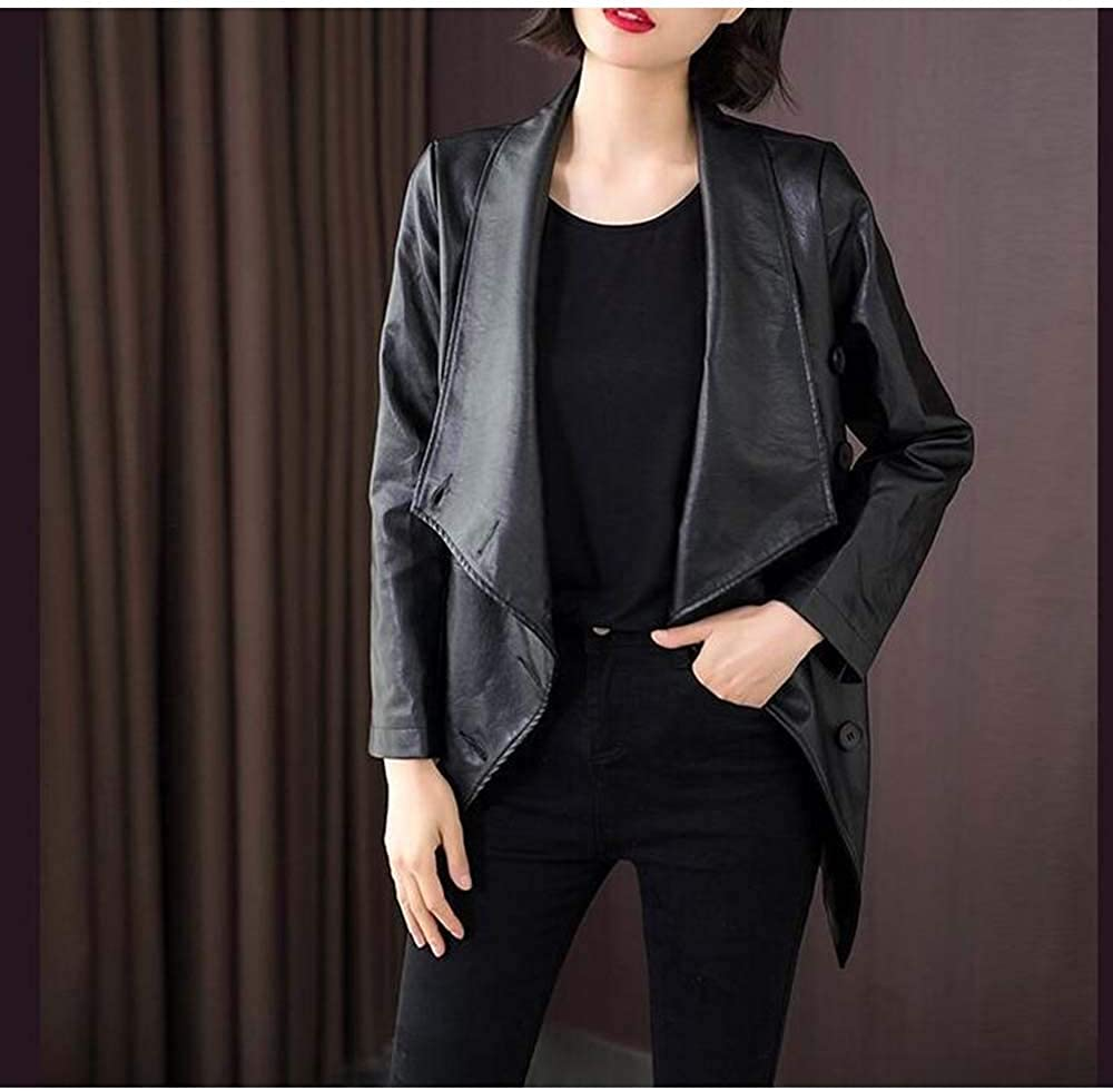 Centenarios autunno e inverno in pelle giacca di pelle sottile donna Black