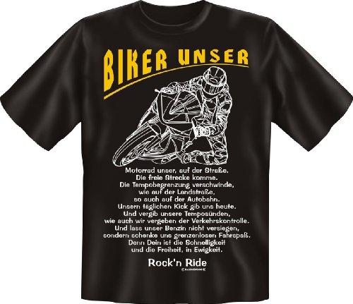 Fun T-Shirt: Biker unser - lustiges Geschenk mit Spaß und Humor - S bis 5XL