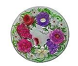 Continental Art Center Flower Bouquet Glass Plate, 18-Inch