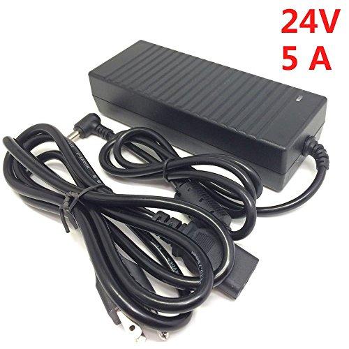 inShareplus DC 24V Power Supply 5A 120W, Desktop LED Powe...