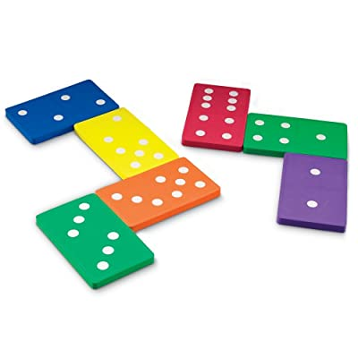 Learning Resources Jumbo Foam Dominoes: Toys & Games