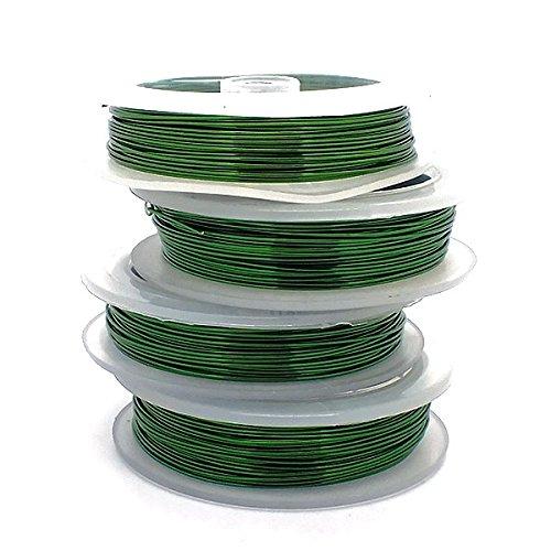 Craft/Jewellery Wire 0.8mm (20ga) Non-Tarnish - Green - 6m The Bead Shop