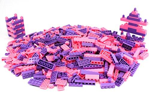 Pink & Purple Plastic Building Bricks (1000 Pieces)