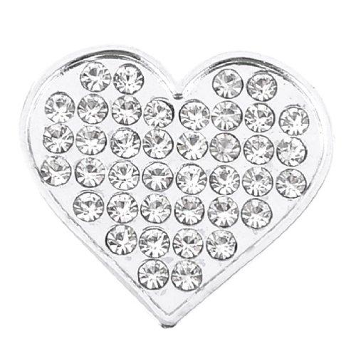 Bling Bling Heart (uxcell Bling Rhinestones Silver Tone Heart Shape Design 3D Emblem Car Sticker)