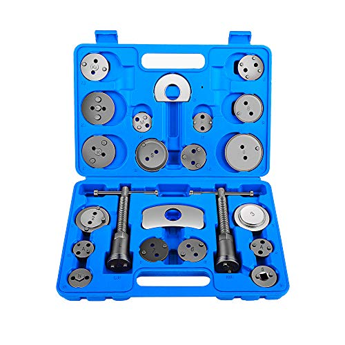 OrionMotorTech 22pcs Heavy Duty Disc Brake Piston Caliper Compressor Tool Set and Wind Back Kit for Brake Pad Replacement, Fits Most American, European, Japanese Models (Disc Piston Brake)