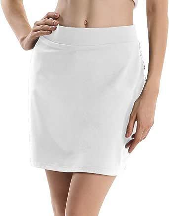 Jessie Kidden Women's Athletic Stretch Skort Skirt Shorts Pocket Running Tennis Golf Workout