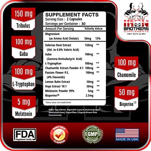 Amazon.com: 2 Bottles Natural Sleep Aid Formula - Non Habit Forming Supplement Sleeping Pills with Melatonin, Valerian Root, GABA, Chamomile, L-Tryptophan ...