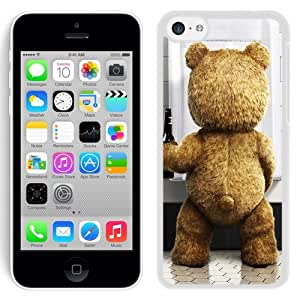 NEW Unique Custom Designed iPhone 5C Phone Case With Ted Movie Beer Funny_White Phone Case