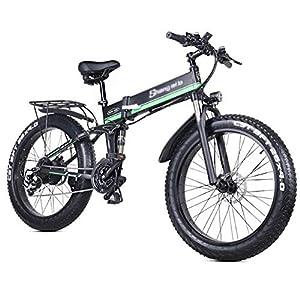 51s6VY8FlKL. SS300 ONLYU Bici Elettrica, 1000W 48V Pieghevole Mountain Bike con 26 * 4.0 Fat Tire, 21 velocità Leggero E-Bike con Il Pedale…