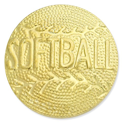 Softball Gold Chenille Sports Lapel Pin by JDS Industries (Image #3)
