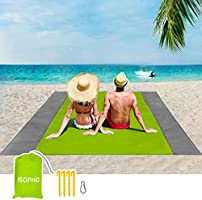 ISOPHO Beach Mat Picnic Blanket, Extra Large 210 x 200cm Beach blanket Waterproof Sandproof Water Resistant Picnic...