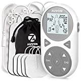 AUVON 32 Modes TENS EMS Unit (TENS+EMS+Massage), Muscle Stimulator Machine with 11 TENS Modes for Pain Relief, 11 EMS Modes for Muscle Management, 10 Massage Modes for Relaxation, and Electrode Pads