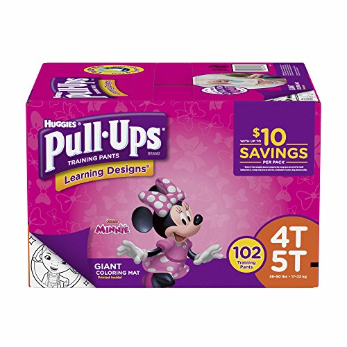 (Product of Pull-Ups Learning Designs Training Pants for Girls, Size 4T-5T, 102 ct. (diapers - Wholesale Price - Training Pants [Bulk Savings])