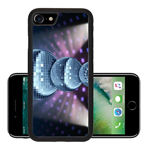 Years Disco Era (Liili Premium Apple iPhone 7 Aluminum Backplate Bumper Snap Case iPhone7 Winter holiday music symbol with Dance night disco balls as a mirror sphere Photo)