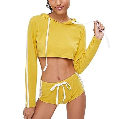 Shujin - Chándal - para Mujer Amarillo L: Amazon.es: Ropa y accesorios