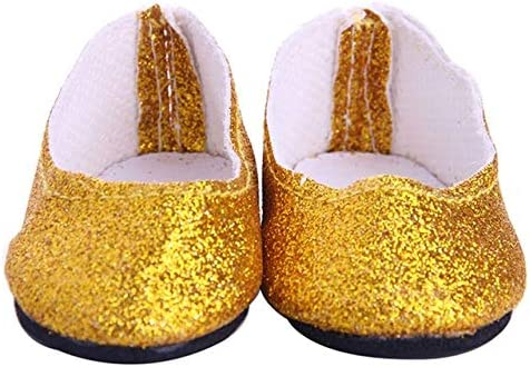 FairOnly フラッシュパウダー ドレスシューズ 18インチ Our Generation人形用 小さな靴 人形 アメリカ 女の子 JA22a WX_FQ1TO_MQYD3T0D-0416-SSX