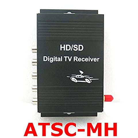SunShine Car Digital TV ATSC Tuner Receiver Box with 4 Video Output for United States Canada Mexico
